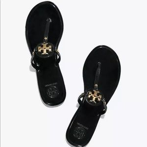 Size 8 Tory Burch Black Jelly Mini Miller Sandals